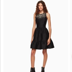 NEW Kate Spade pearl embellished mikado dress